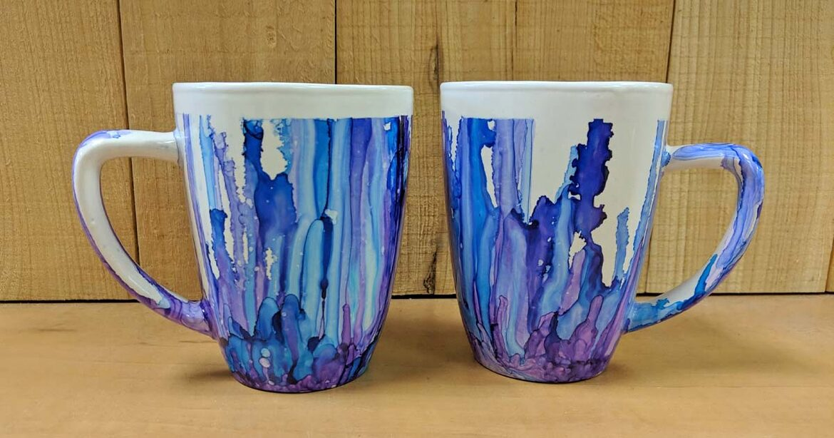 Party Alcohol Ink Mugs Jacobs Trading Rock Crystal Shop